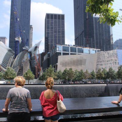 La zona del WTC. Al fondo a la izq. la obra de Calatrava