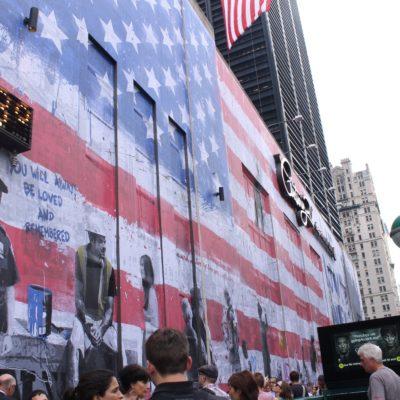Un mural en recuerdo del 11-S