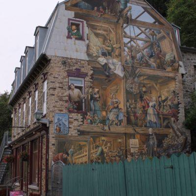 Uno de los muchos murales de Champlain