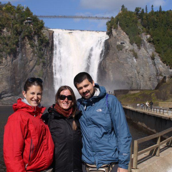Con Laure en la cascada Montmorency