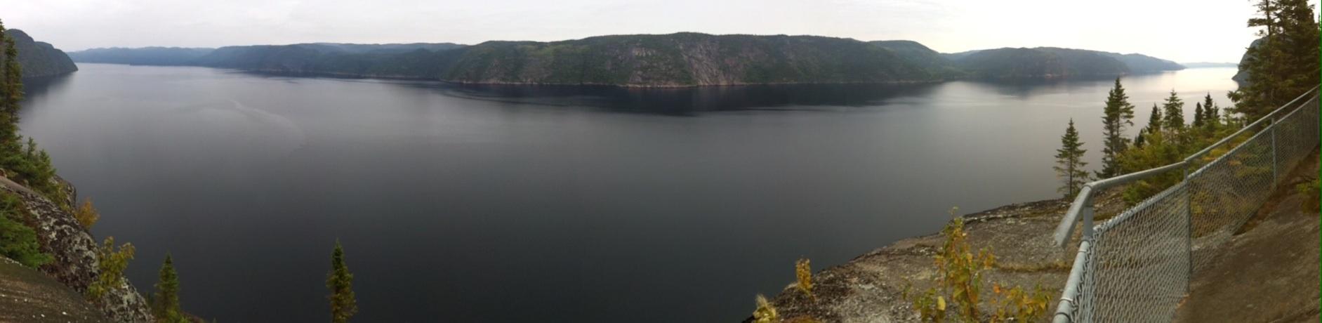Vistas del Fiordo del río Saguenay