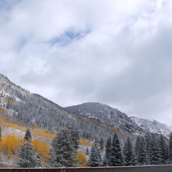 Increible paisaje de los alrededores de Aspen, en las Montañas Rocosas de Colorado