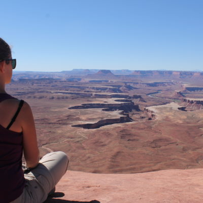 Vistas del cañón por donde transcurre el río Green
