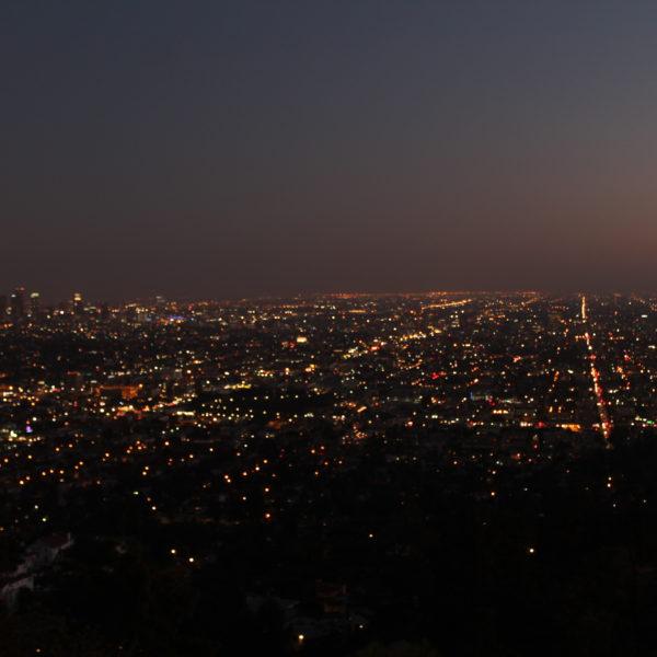 La ciudad de Los Angeles de noche