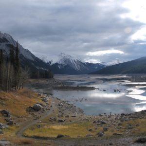 El espacio que en primavera-verano ocupa el gran Lago Medicine