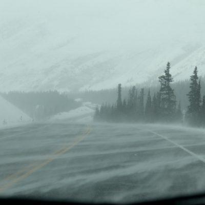 También tuvimos rachas de viento con nieve