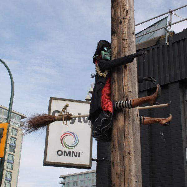 Las calles también se decoran de esta manera tan original