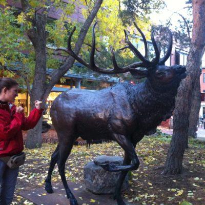 Amaia peleandose con el ciervo de Boulder
