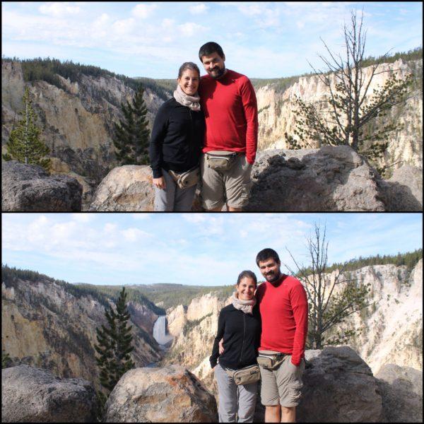Esto es lo que pasa muchas veces cuando le dejas a alguien la cámara para que te saquen una foto... ¿veis la diferencia entre ellas?