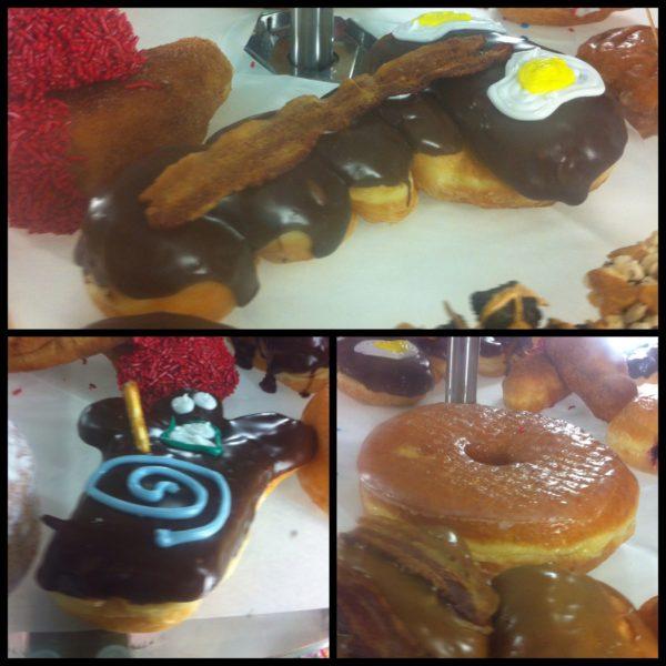 """Otros doughnuts """"diferentes"""": bacon y huevos con una forma sugerente, un muñeco de budú y un donught gigante"""