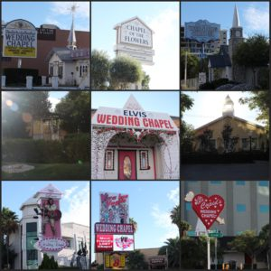Algunas de las muchas capillas que vimos en Las Vegas