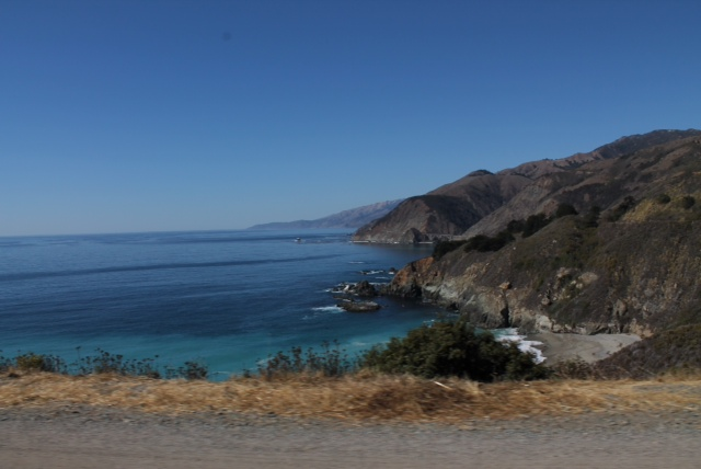 Gran paisaje desde la carretera