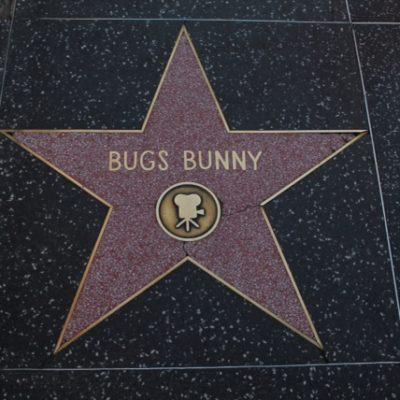 La estrella de Bugs Bunny en el paseo de la fama de Hollywood