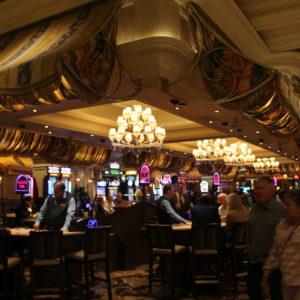 Mesas de blackjack en el Hotel Bellagio