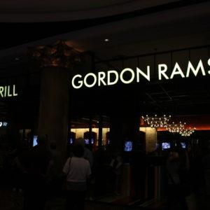 Encontramos el restaurante-pub del famoso chef Gordon Ramsay en el Caesar Palace, pero no a él no lo vimos.