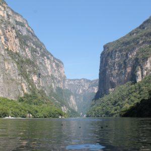 Esta parte del cañón se utilizó para dibujar el escudo de Chiapas