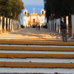 Una de la iglesias en la colina: la virgen de Guadalupe