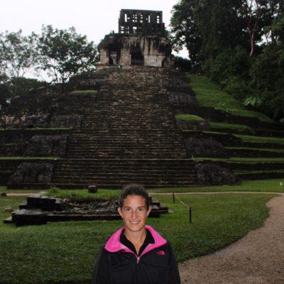 Una de la pirámides a la que subimos