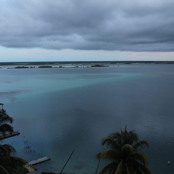 Después se nubló, y el lago ya no se veía tan bonito, pero tenía su gracia