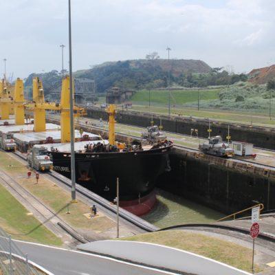 Aunque los barcos eran grandes, no coincidimos con ninguno que estuviera a rebosar de contenedores