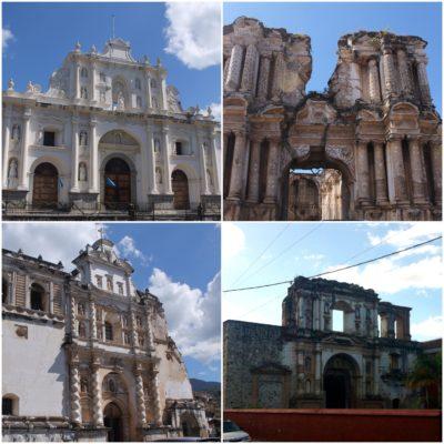 Aunque no todas, la mayoría de las iglesias están medio derrumbadas a causa de terremotos y así se han quedado