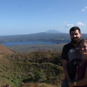 Desde el cerro podíamos ver esta panorámica del Lago Masaya