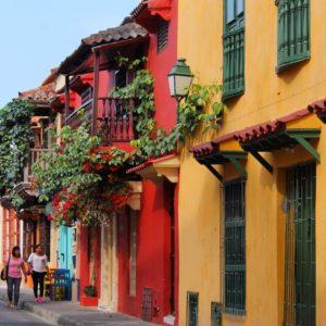 El colorido de las casas y los balcones era impresionante