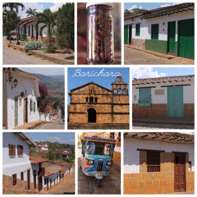 La mayoría de casas son de un único piso, con puertas y ventanas de colores
