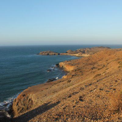 La línea de la costa en la Guajira nos encantó