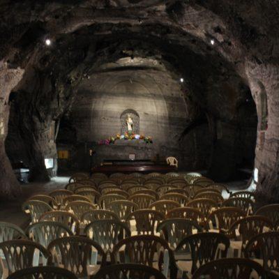 En esta pequeña capilla se realizan las misas de a diario, mientras que en la nave principal sólo las especiales