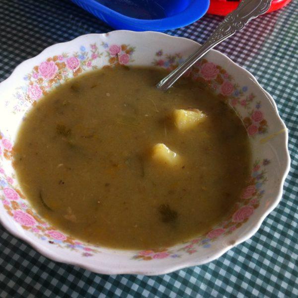 Un estilo de puré que suele ser de pescado o carne, con verduras y patata