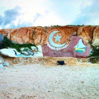La decoración de la playa de Canoa nos gustó