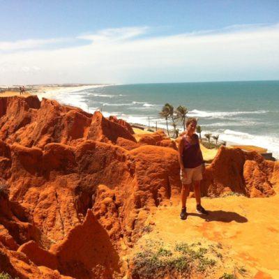 Las vistas de la playa eran increibles desde las alturas