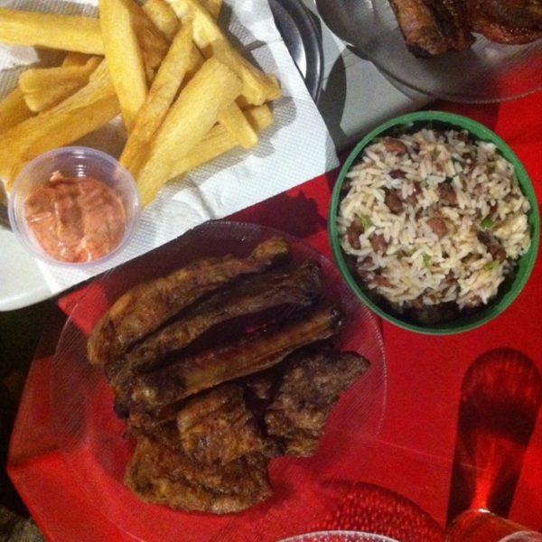 Buena carne y macaixera frita siempre es un acierto