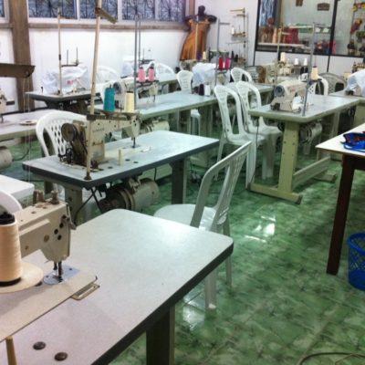La sala de costuras en el Banco Palmas