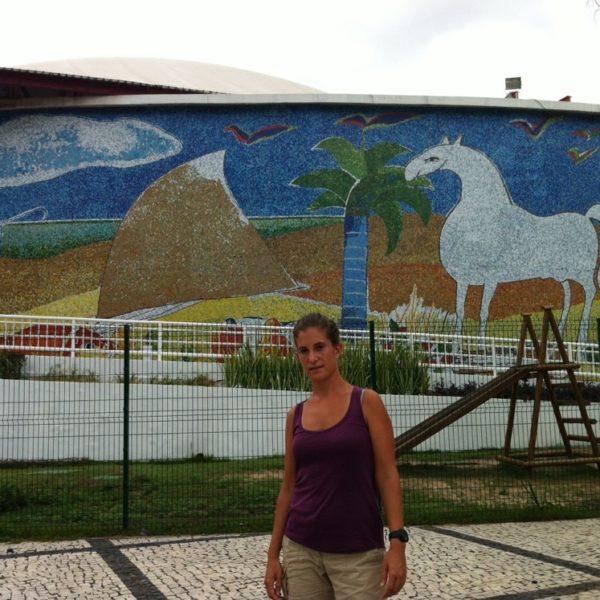 Este mosaico se encuentraen el Dragão de Mar