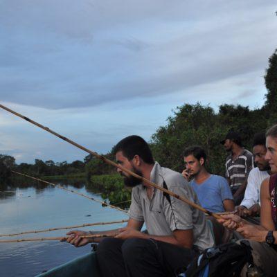 Por mucha concentración que le dedicáramos a la pesca de piraña, no dio sus frutos