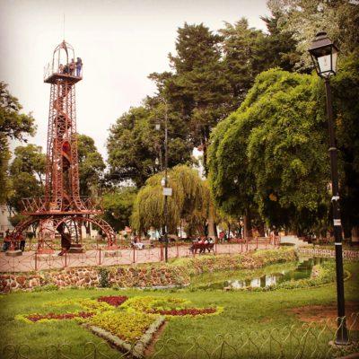 El parque de Sucre tenía hasta su propia torre Eiffel