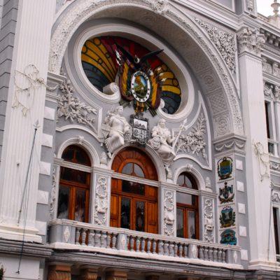 El Palacio de Gobierno Autónomo Departamental de Chuquisaca fue en su día el Palacio de Gobierno Nacional de Bolivia