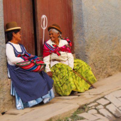 Coroico es un pueblo en las montañas llena de cuestas... ¡una paradita para charlar siempre viene bien!
