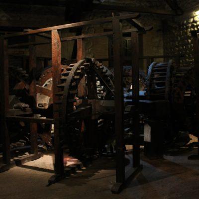 Esta maquinaria es la original que se utilizó en la Casa de la Moneda y la única del mundo que se mantiene