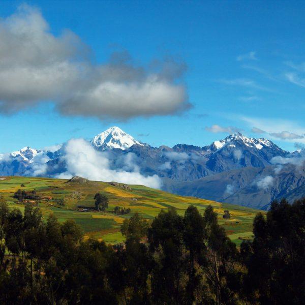 El paisaje durante el recorrido en furgoneta fue precioso mientras nos acercábamos a los Andes nevados