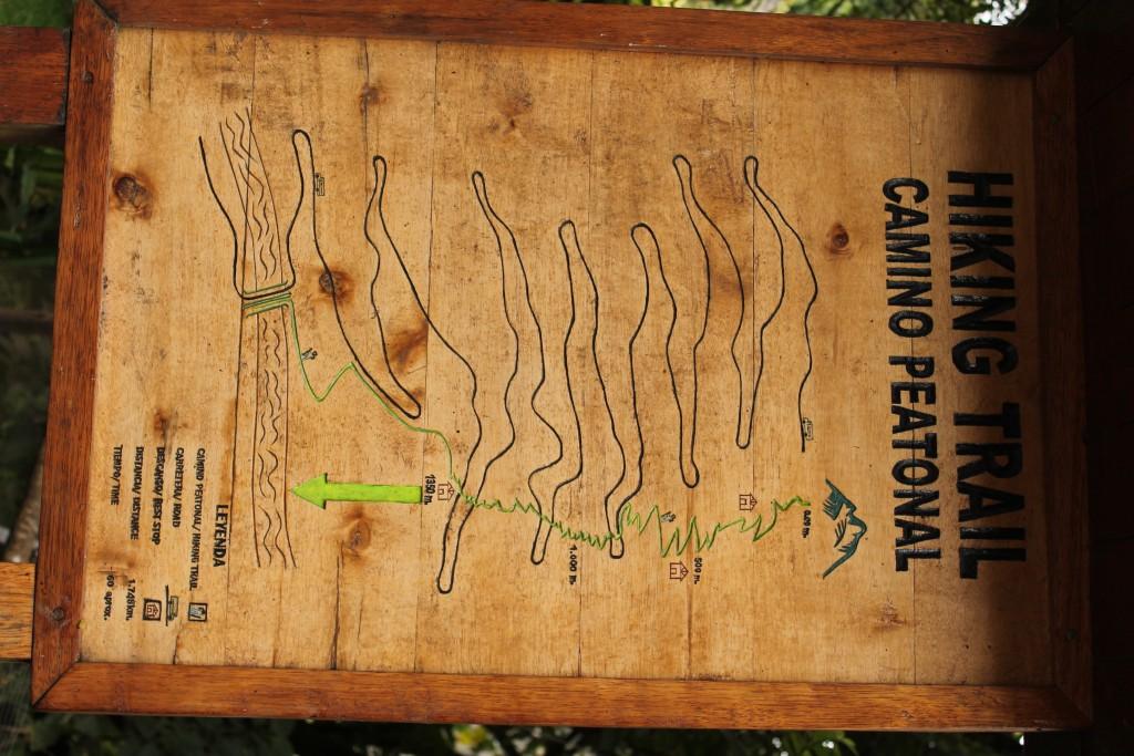 Mapa camino Machu Picchu