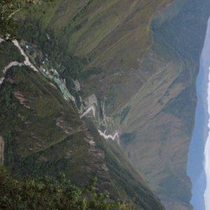 Desde Machu Picchu pudimos ver el recorrido que habíamos realizado desde hidroeléctrica