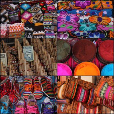 La colorida artesanía del mercado, hacía que éste fuera precioso