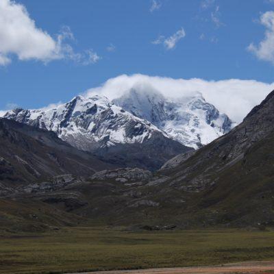 En el camino a Pastoruri el paisaje fue precioso