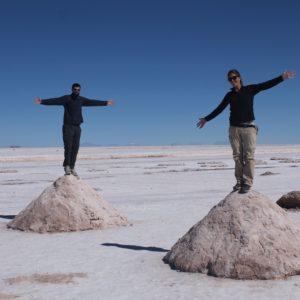 Crean estos montones de sal para facilitar la recogida