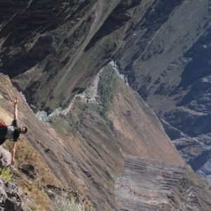 La vista del sinuoso río Colca en el cañón era espectacular, y eso que no estábamos en la parte más profunda