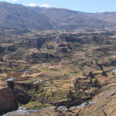 Precioso paisaje de terrazas en el Valle del Colca