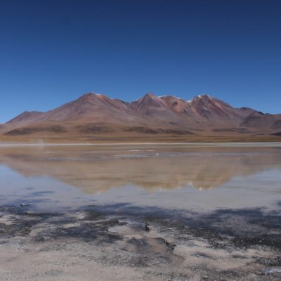 En la laguna Hedionda se podían ver bonitos reflejos sobre el agua